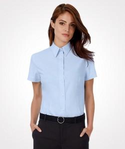 Damen-Bluse OXFORD, kurzarm / langarm