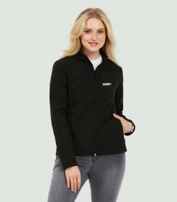 Damen Security Softshell Jacke incl. Aufdruck Security, marineblau oder rot oder schwarz