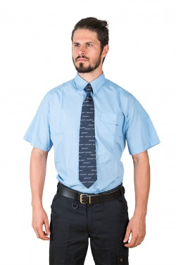 DaVinci Diensthemd Classic, kurzarm / langarm, blau