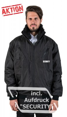 DaVinci Security-Jacke Multifunktional incl. Aufdruck SECURITY, schwarz