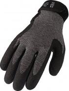 Asatex Strickhandschuhe 3790 mit PVC-Beschichtung, grau (144 Paar / Packung / Größe)