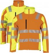 Asatex Warnschutz Prevent® Trendline Softshelljacke 2-farbig, gelb oder orange