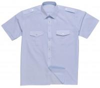 DaVinci Security-Pilotenhemd Basic, kurzarm / langarm, hellblau