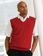 Henbury Lambswool V-Neck Sleeveless Jumper 100% Lammwolle, in vielen Farben