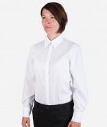 OLYMP Damen-Bluse LUXOR UNI mit Veredelung, Modern Fit, langarm / kurzarm