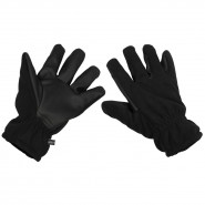 Security Fleece-Fingerhandschuhe Alpin, schwarz